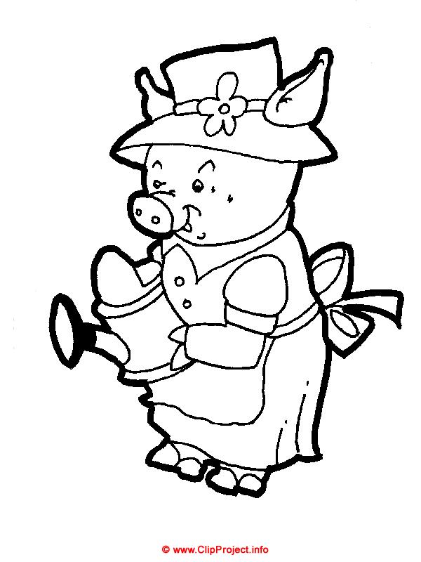Schwein, Schweinchen, Malbuch kostenlos runterladen, Gratis Window ...