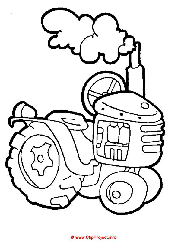 Traktor, Malbuch kostenlos runterladen, Gratis Window color ...